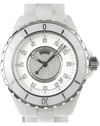 5b816a6ed22 Chanel - Ceramic And Stainless Steel J12 Men s Wristwatch 40mm - Lyst