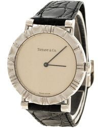 Tiffany & Co. - Silver Atlas Women's Wristwatch 31 Mm - Lyst
