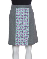 Moschino - Boutique Jersey Tweed Panel Detail Skirt L - Lyst