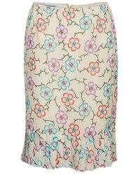 Chanel - Floral Chiffon Skirt M - Lyst