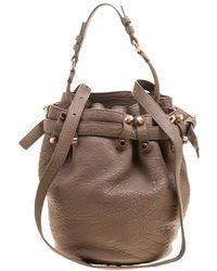 Alexander Wang - Textured Leather Diego Bucket Bag - Lyst