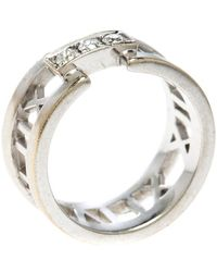 Tiffany & Co. - Atlas Diamonds 18k White Gold Open Band Ring - Lyst