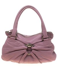 5987d975bad0 Michael Kors Jet Set Lilac Leather Tote in Gray - Lyst