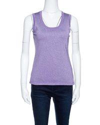 M Missoni - Purple Lurex Knit Tank Top M - Lyst