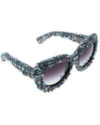9dfcea4f73a Chanel - Tweed black Gradient 71085 Oversized Sunglasses - Lyst