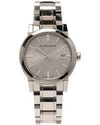 Burberry - Stainless Steel Heritage Collection Women's Wristwatch 36mm - Lyst