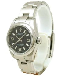 Rolex - Black Stainless Steel Oyster Perpetual Women's Wristwatch 26mm - Lyst
