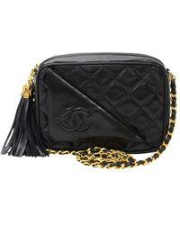 Chanel - Quilted Leather Tassel Shoulder Bag - Lyst