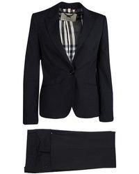Burberry - London Wool Pant Suit S - Lyst