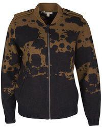 91dfa5d18579 Burberry - Brit And Black Splatter Pattern Zip Front Wool Jacket L - Lyst