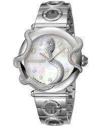 Roberto Cavalli Mop Stainless Steel Rv2l020m0041 Women's Wristwatch 36mm