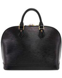 Louis Vuitton - Noir Epi Leather Alma Pm Bag - Lyst