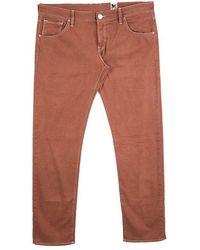 M Missoni - Burnt Orange Denim Straight Fit Jeans L - Lyst