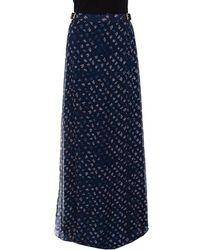 Diane von Furstenberg - Daisy Bud Printed Silk Bethune Wrap Skirt L - Lyst