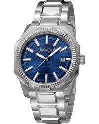 Roberto Cavalli - Navy Stainless Steel Rv1g025m0051 Men's Wristwatch 40mm - Lyst