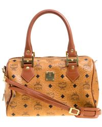 43f9f3e6176ba Michael Michael Kors Mercer Stripe Heritage Tote Bag in Orange - Lyst