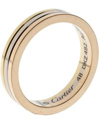 Cartier - Trinity 18k Three Tone Gold Wedding Band Ring Size 48 - Lyst