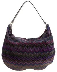 Missoni - Shimmering Weave Fabric Hobo - Lyst