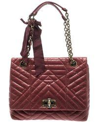 61899ffb3b09 Lanvin Leopard Print Happy Shoulder Bag in Brown - Lyst