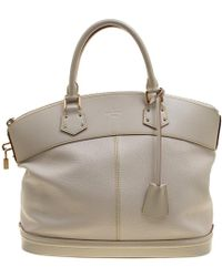 Louis Vuitton - Ivory Suhali Leather Lockit Mm Bag - Lyst