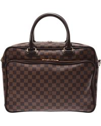 Louis Vuitton Damier Ebene Canvas Icare Business Bag - Brown