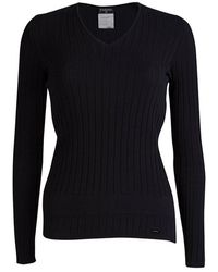 Chanel - Cotton Ribbed Knit Jumper S - Lyst