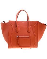 Céline - Leather Medium Phantom Luggage Tote - Lyst