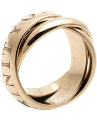 Cartier - Or Amour Et Trinity 18k Yellow Gold Ring Size 51 - Lyst