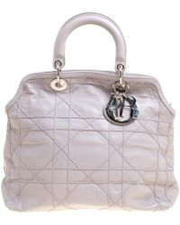 Dior - Cannage Leather Granville Tote - Lyst