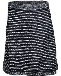 Dior - Tricolor Textured Mini Skirt M - Lyst
