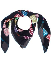 Louis Vuitton - Limited Edition Neon Great Adventures Giant Square Silk Scarf - Lyst