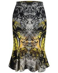 Roberto Cavalli - Printed Flared Bottom Skirt M - Lyst