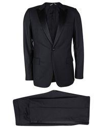 Dior Black Wool Satin Panel Detail Regular Fit Tailored Suit L