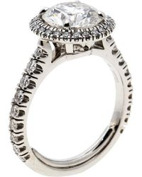 Cartier - 1895 Destinee 2.08ct Diamond Solitaire Platinum Halo Engagement Ring - Lyst