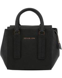 ece7418892ca Michael Kors Mercer Medium Mulberry Pebble Leather Crossbody Bag in ...