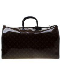 Louis Vuitton - Glazed Monogram Canvas Automne Hiver 2018 Keepall Bandouliere 50 Bag - Lyst