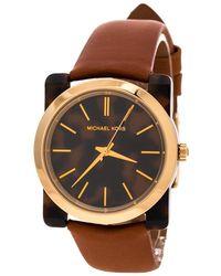 b6a1224cbbdd Michael Kors - Tortoise Gold Plated Steel Kempton Mk2484 Women s Wristwatch  39 Mm - Lyst