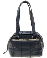 Lyst - Chanel Chocolate Bar Stitch Tote Bag Caviar Skin Beige Silver ... d090bb7729a83