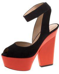 Céline - Pre-owned Black Suede Heels - Lyst