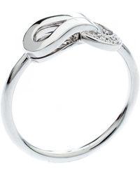 Cartier - Agrafe Diamond 18k White Gold Ring Size 50 - Lyst