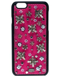 Dior - Crystal And Fabric Stardust Embellished Iphone 6 Case - Lyst
