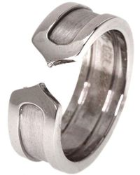 Cartier - C De White Gold Ring - Lyst