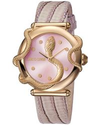 Roberto Cavalli - Rose Mop Rose Gold Plated Steel Rv2l020l0031 Women's Wristwatch 36mm - Lyst