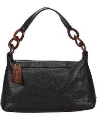 Lyst - Chanel Caviar Skin Matrasse W Flap Chain Shoulder Bag Caviar ... 35b0d06403fa9