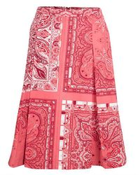 Etro - Paisley Printed Cotton Box Pleated Skirt M - Lyst