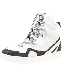 Marc By Marc Jacobs - Monochrome Leather And Mesh High Top Trainers Size 38 - Lyst