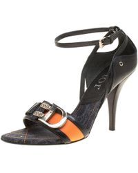 Dior - Leather Issimo Open Toe D'orsay Sandals - Lyst