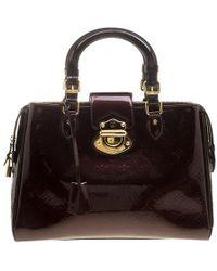 Louis Vuitton - Amarante Monogram Vernis Melrose Avenue Bag - Lyst