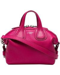 Givenchy - Fuchsia Leather New Micro Nightingale Top Handle Bag - Lyst