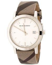 Burberry Silver Stainless Steel The City Bu9022 Women's Wristwatch 38 Mm - Gray